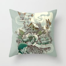 'In Tune with Nature' Throw Pillow