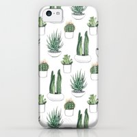 iPhone 5c Cases featuring watercolour cacti and succulent by Vicky Webb