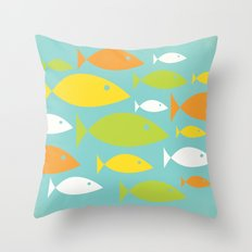 School of Fish Variation Two Throw Pillow