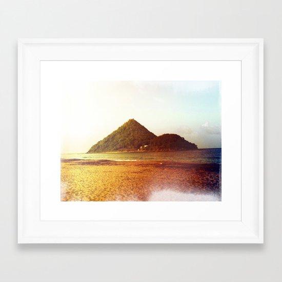 Rainbow Island Framed Art Print