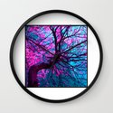 purple tree XII Wall Clock