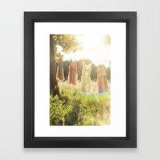 Lace laundry Framed Art Print