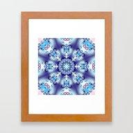 Elegant Swirly Kaleidosc… Framed Art Print