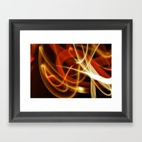 Merging Light Framed Art Print