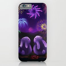 Chubby bunnies watch fireworks iPhone 6 Slim Case