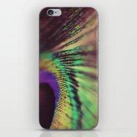 Peacock feather macro iPhone & iPod Skin
