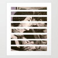 Untitled, Charcoal And W… Art Print