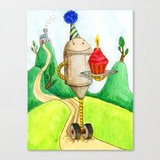 Birthday Robot 1: Cupcake Canvas Print