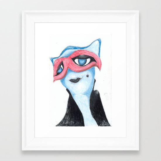 The red mask is obvious Framed Art Print