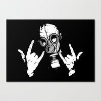 Devil Horns Canvas Print