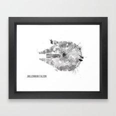 Star Wars Vehicle Millennium Falcon Framed Art Print