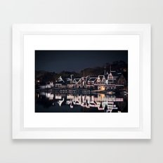 Boathouse Row Framed Art Print