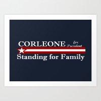 Corleone Standing For Fa… Art Print