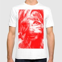 Sharon Mix 12 Red Mens Fitted Tee White SMALL