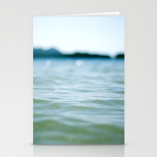 Wave Bokeh The Deep End Stationery Card