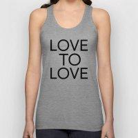 LOVE TO LOVE Unisex Tank Top
