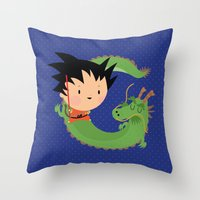 G is for goku Throw Pillow