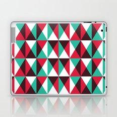 Red, turquoise, black triangle pattern Laptop & iPad Skin