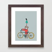 Biker Bear Framed Art Print