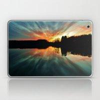 Magical evening at the lake Laptop & iPad Skin