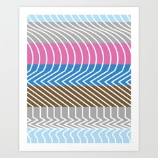 Waveforms Art Print