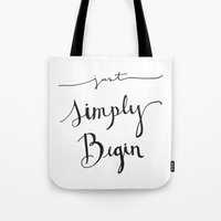 Simply Begin Tote Bag