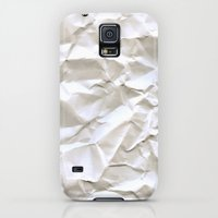 Galaxy S5 Cases featuring White Trash by pixel404