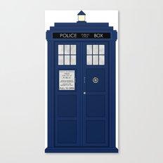 Doctor Who's Tardis Canvas Print