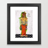 Framed Art Print featuring King Of The Dogs by Alec Goss