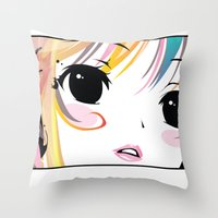 Yuki Remix Blocked Throw Pillow
