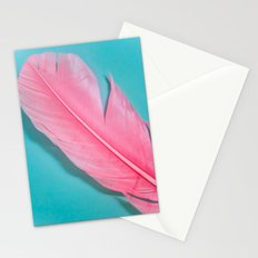PINK FEATHER 2 Stationery Cards