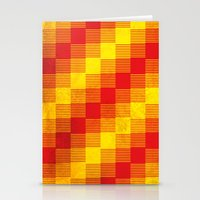 Rusty Yellow And Red Mot… Stationery Cards