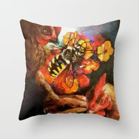 The Birds & The Bee Throw Pillow