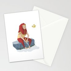 henon and his bird Stationery Cards