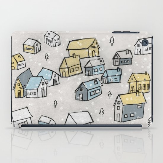 First day of snow iPad Case