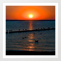 Summer Sunset on the Baltic Sea Art Print