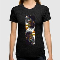 Psychoactive Bear 8 Womens Fitted Tee Tri-Black SMALL