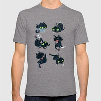 I'm a dragon person Mens Fitted Tee Tri-Grey SMALL