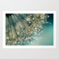 Indigo Sparkles Art Print