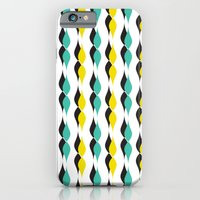 turquoise and yellow petal lines  iPhone 6 Slim Case