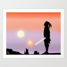 Jedi Horizon Art Print