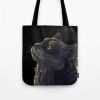 Cat And The Light  Tote Bag