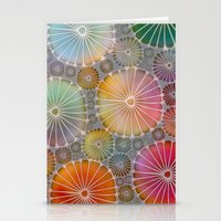 Abstract Floral Circles 4 Stationery Cards