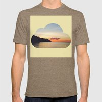 Disappear and hide Mens Fitted Tee Tri-Coffee SMALL