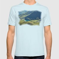 Among The Slopes Mens Fitted Tee Light Blue SMALL