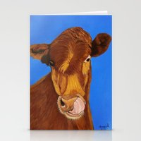 cow Stationery Cards featuring Cow by maggs326