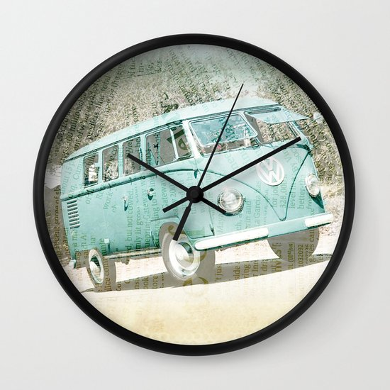 going up the country _ VW Kombi Wall Clock