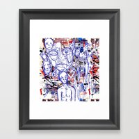 Anxiety And Frustration Framed Art Print