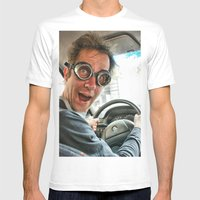 Drive Like A Fool Mens Fitted Tee White SMALL