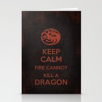 Keep Calm - Game Poster 03 Stationery Cards